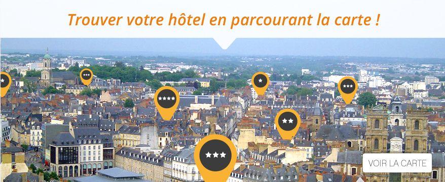H tels rennes r servation en ligne sans interm diaire for Trouver un hotel disponible